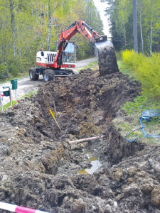 Gräva kommunalt vatten samt avlopp Vreta Kloster