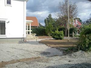 Trädgårdsplanering i Vikingstad