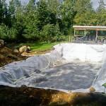 Grävning av pool 4x8m i Maspelösa