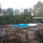 Planering runt pool Maspelösa